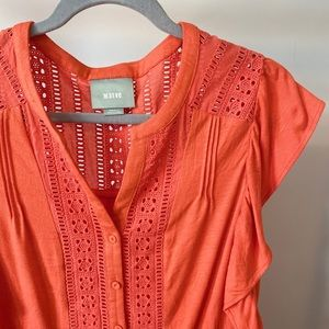 Antgropologie button front summer top